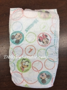 Diaper - Size #1 - Mickey Mouse Print Diaper