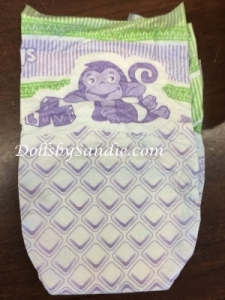 Diaper - Size #1 - Purple Monkey Print Diaper
