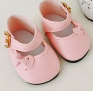 Doll Shoes - Mary Jane with Buckle & Bow Shoes - Moniques