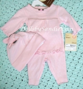 Clearance - Carter's Girls 3 pc. Set - Beautiful Pink Knit