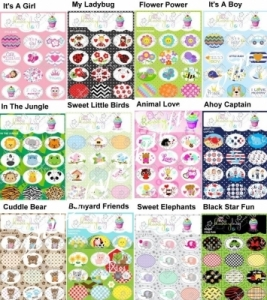 Sprinkles - Honeybug Sticker Sheets for Decorating Pacifiers