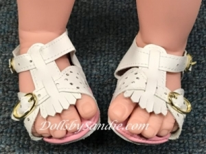 Doll Sandals - Pink & White