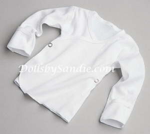 Authentic Hospital Shirt - White with Side Snaps
