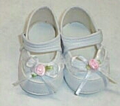 Doll Shoes - Precious Rosebud & Lace Doll Shoes