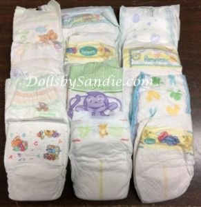 Quantity of 10 - Mixed Newborn Diapers
