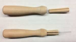 Rooting Tool - German Wooden Rooting Needle Holder