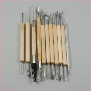 11 Pc Wooden & Metal Sculpting Set
