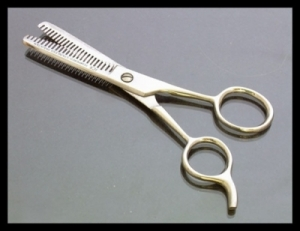 Scissors - Barber Double Sided Thinning Shears in case