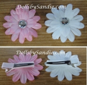 Hair Barrette - Handmade Baby Flower Barrette