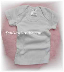 Hospital Shirt - Preemie White Pullover Style