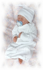 Hospital Gown - Preemie - White