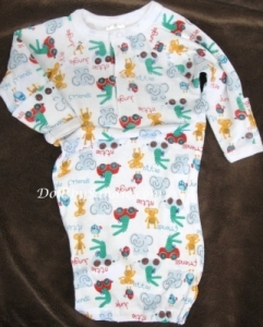 Hospital Gown - Boys Preemie - Jungle Print