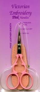 Scissors - Pink Detail Scissors & Case - Precision Crafted