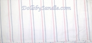 Quantity of 10 - Authentic Hospital Baby Blankets - Candy Stripes