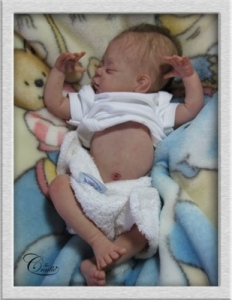 Clearance - Jody - Preemie Reborn Cradle Doll Kit - By Linda Murray