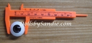 Tool for Measuring Eye Size - Convenient 4 in. Pocket Size