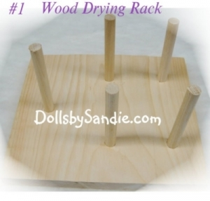 Drying Rack - Our Wood Drying Rack for Vinyl Parts