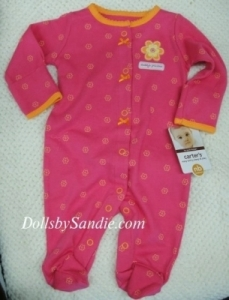 Carter's Girls Sleeper - Bright Pink