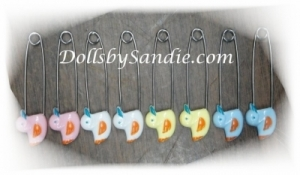 Diaper Pins - 8 Pack Duckie Pins